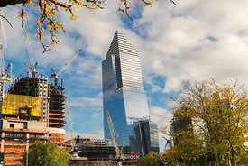 The skyscraper at 30 Hudson Yards as seen from 12th Avenue in New york City.