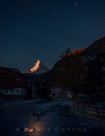 Matterhorn and the moon
