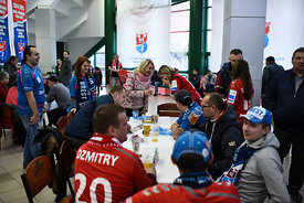 Fans during the Final Tournament - Final Four - SEHA - Gazprom league, Bronze Medal Match Meshkov Brest - PPD Zagreb, Belarus, 09.04.2017, Mandatory Credit ©SEHA/ Nebojša Tejić..