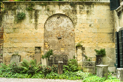 An Old Wall At The Giardino Giusti Gardens
