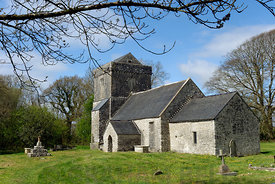 Llanfrynach Church, Cowbridge, Vale of Glamorgan, South Wales, UK