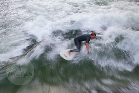 Eisbach river surfing