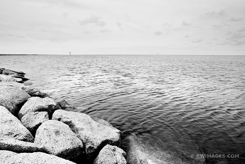 ROCK HARBOR ORLEANS CAPE COD MASSACHUSSETTS BLACK AND WHITE