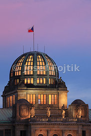 Dome of the Ministry of Industry and Trade building, Prague, Czech Republic