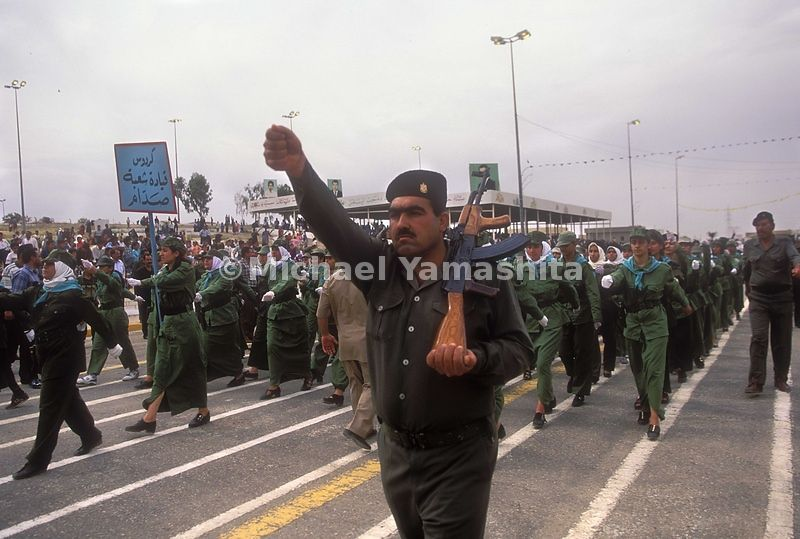 The celebration for Saddam Hussein's 62nd birthday. Tikrit, Iraq.