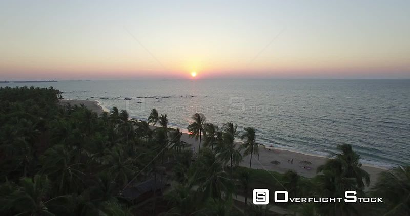 Drone Video Myanmar Chaungtha Beach at Sunset