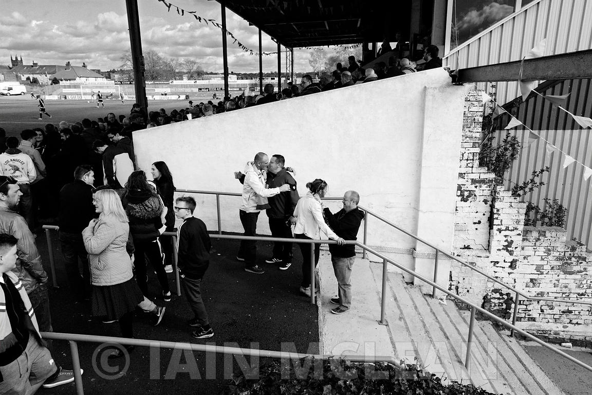 Albion Rovers..Cliftonhill Stadium, Coatbridge..25.4.15.Albion 1-1 Arbroath.A full house at Cliftonhill where Rovers were presented with the League Championship Trophy...Picture Copyright:.Iain McLean,.79 Earlspark Avenue,.Glasgow.G43 2HE.07901 604 365.photomclean@googlemail.com.www.iainmclean.com.All Rights Reserved.