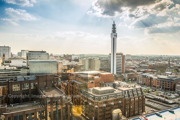 The city centre and the Jewellery Quarter of Birmingham, West Midlands, England, UK