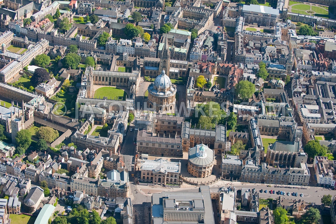 Aerial View. Aerial view of Oxford, and Oxford University