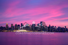 Sunset over Vancouver. Photo: Mitch Winton - coastphoto.com