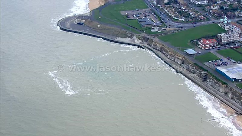 Aerial footage of coastline, Kent