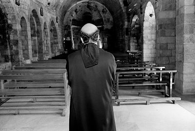 A Maronite Priest in Deir Mar Elisha