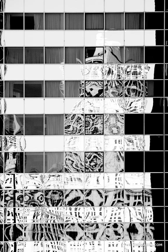 CHICAGO DOWNTOWN ARCHITECTURE ABSTRACT BLACK AND WHITE