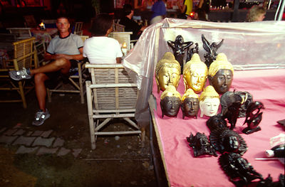 A stall selling Buddha ornaments