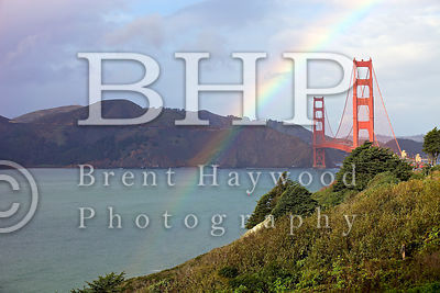 Golden Gate Bridge Rainbow Sunset