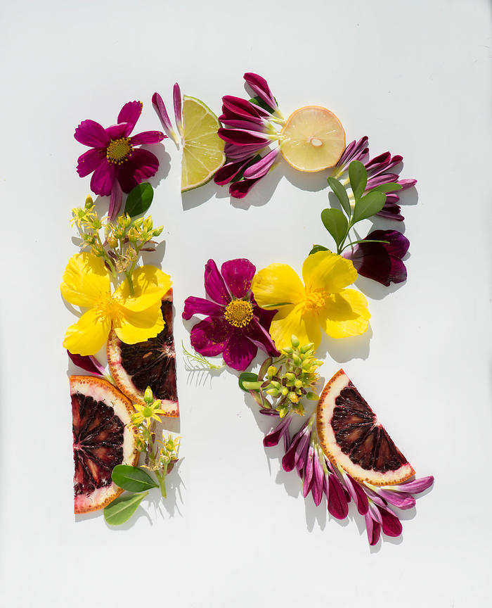 Alphabet made of Flowers