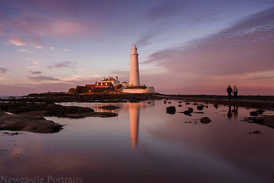 St. Mary's Lighthouse reflections