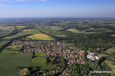 aerial photograph of Newton Flotman.Norwich, Norfolk England UK.