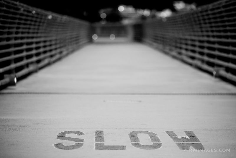 SLOW HOUSTON TEXAS BLACK AND WHITE