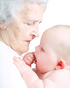 Old woman & baby