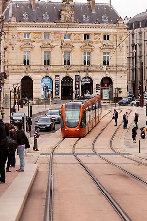 Photo du tramway rue general leclerc