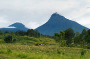 Volcanoes Mount Mikeno and Mount Karisimbi, Virunga National Park, DR Congo