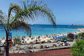 Playa Dorada Beach, Playa Blanca, Lanzarote, Canary Islands, Spain.