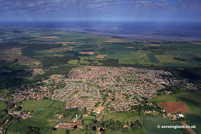 aerial photograph of  Dersingham  Norfolk England UK.