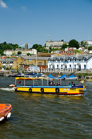 ferry boat moored in floating harbour, bristol, england.