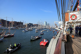 Sail Amsterdam 2015 from Sedov sail training ship, Amsterdam, Netherlands