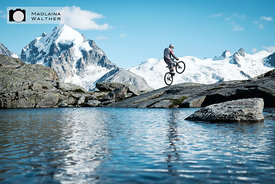 Natural playground, Surlej, Switzerland. Rider: Torsten Wessel.