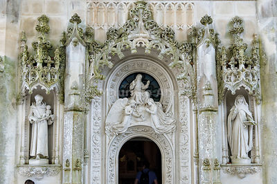 Detail of the Chapel at the Palace in the Quinta da Regaleira, by the architect Luigi Manini (1900). Sintra, Portugal