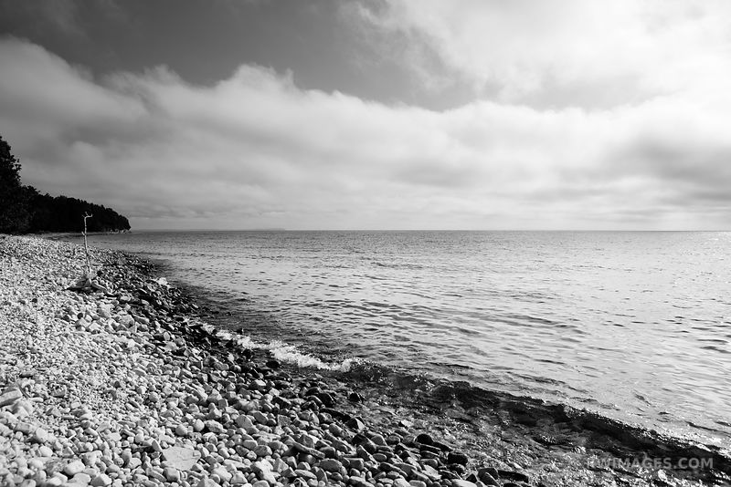 Door County Wisconsin - Black and White Photos Stock Photos Canvas Framed Fine Art Prints