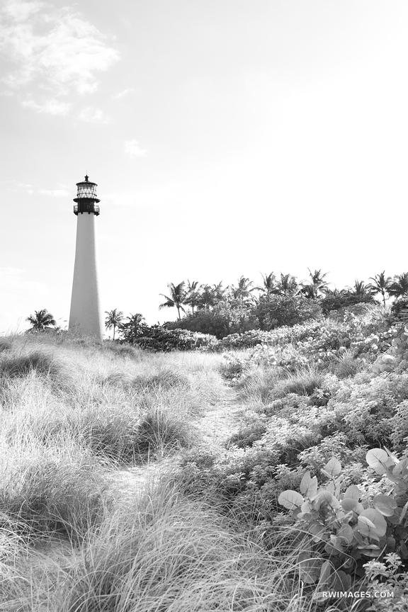 CAPE FLORIDA LIGHTHOUSE BILL BAGS CAPE FLORIDA STATE PARK KEY BISCAYNE BLACK AND WHITE