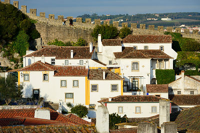 Óbidos, one of the most beautiful medieval villages in Portugal, dating back to the 12th century.