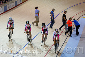 Women's team pursuit qualification. 2014 Canadian Track Championships, January 3, 2015