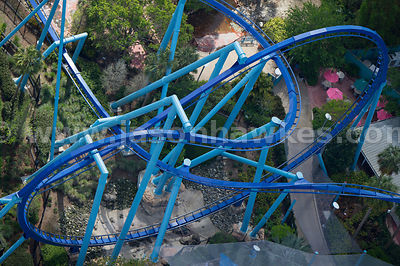 Designed to look like a manta ray, the Manta roller coaster is a fast paced ride at SeaWorld Orlando.