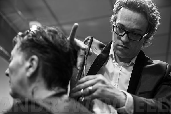The hairdresser Xavier Tourmente in action photos