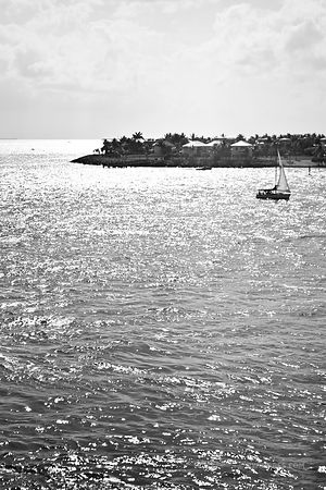 KEY WEST FLORIDA BLACK AND WHITE VERTICAL
