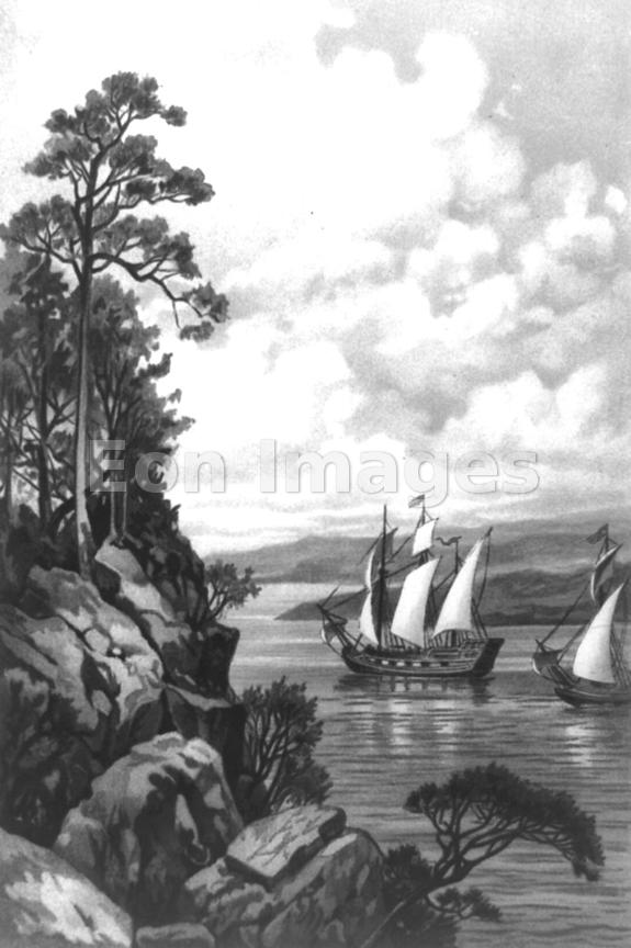 Jacques Cartier ascends the St. Lawrence River