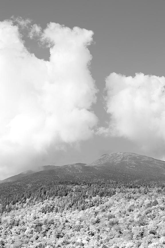 MOUNT WASHINGTON WHITE MOUNTAINS NEW HAMPSHIRE BLACK AND WHITE VERTICAL PICTURE