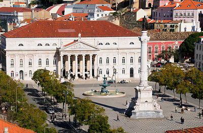 Rossio, the main square in Lisbon