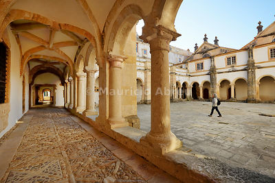 Micha cloister. Convent of Christ, a UNESCO World Heritage Site. Tomar, Portugal (MR)