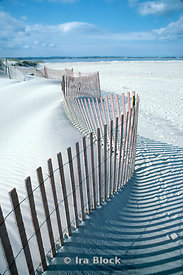 A fence on a beach to prevent erosion, South Hampton, New York