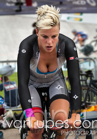 Gillian Carleton is warming up at the Canadian Track National Championships, Dieppe, NB, August 31, 2013,