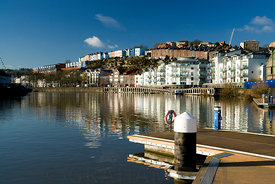Floating harbour and Hotwells, Bristol.