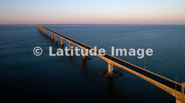 Confederation Bridge At Sunset, New Brunswick