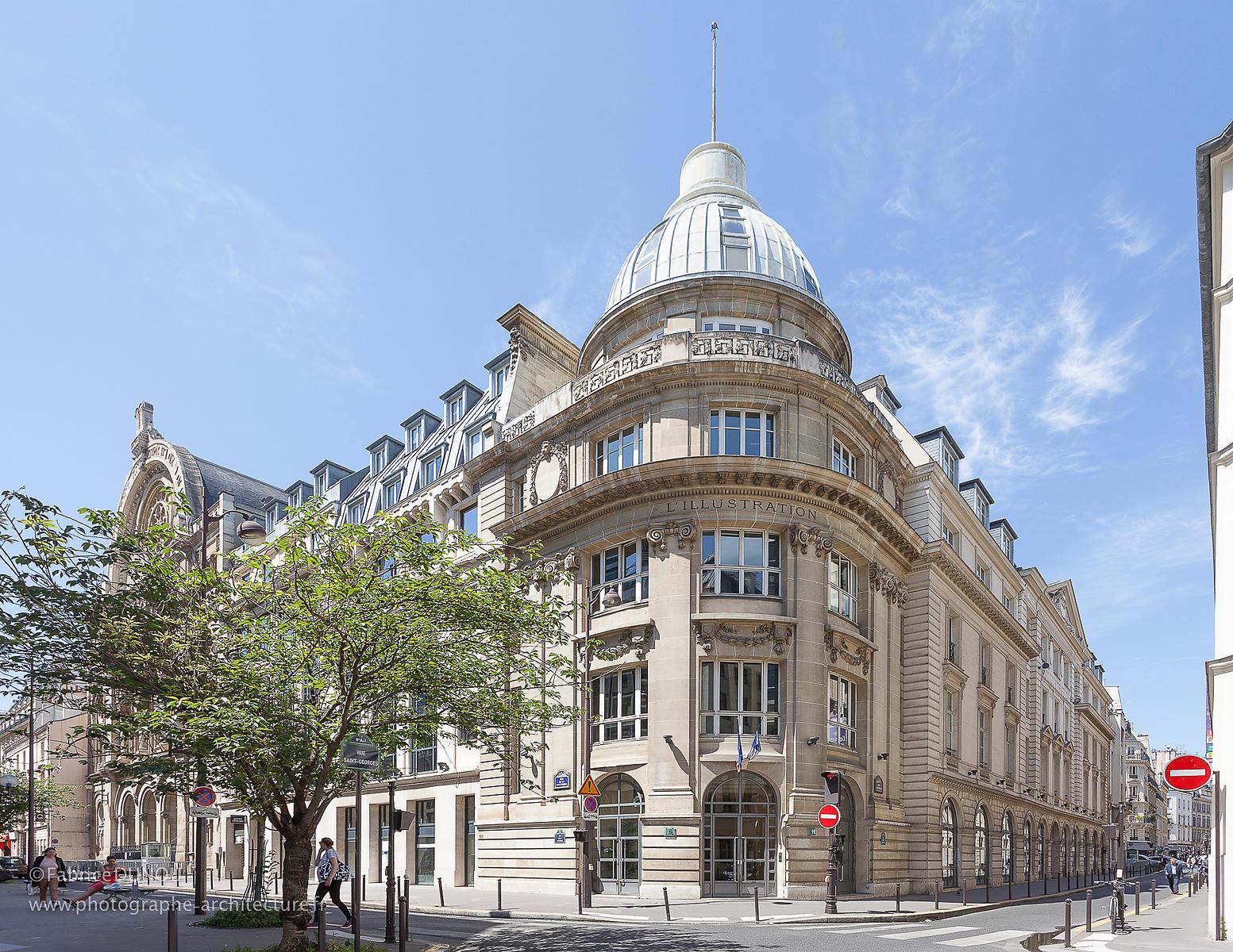 photographe d 39 architecture et d 39 architecture int rieure paris france europe rue st georges paris. Black Bedroom Furniture Sets. Home Design Ideas