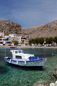 Beach at Vlychadia, Kalymnos, Dodecanese islands, Greece.