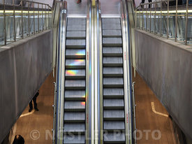 Colorful escalator
